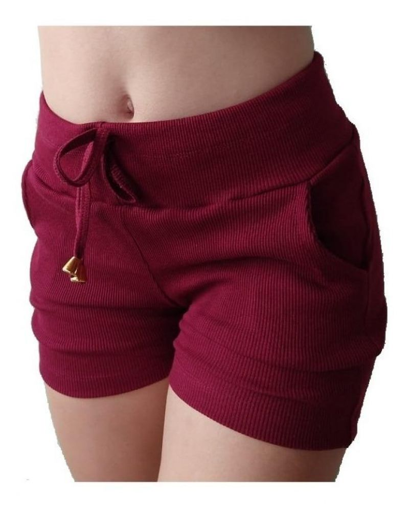Short Feminino em algorão tecido importado